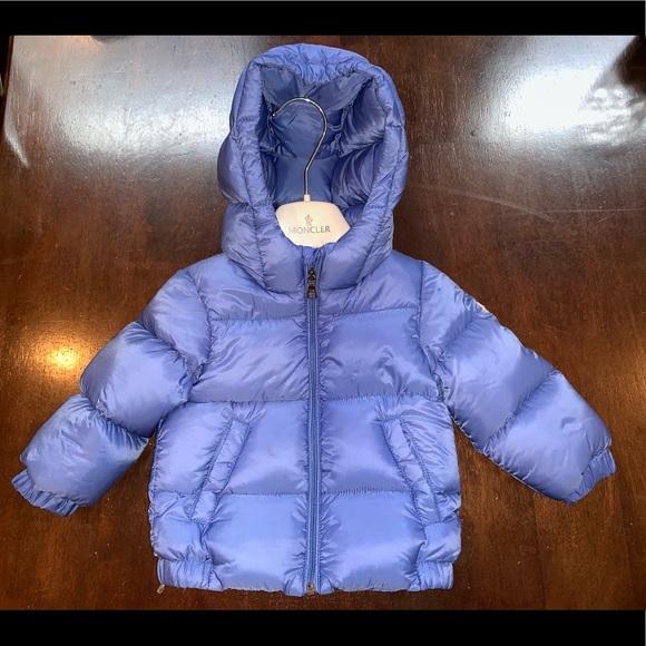 332c0bb14 Moncler baby boy blue 6/9 months puffer coat